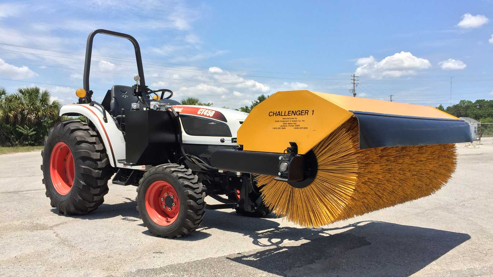 sweeper attachments challenger 1 smith equipment rh smith equipment com Bobcat Broom Attachment Bobcat Angle Broom Parts Diagram