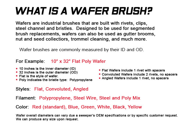 wafer brushes, wafer brush, rotary brushes