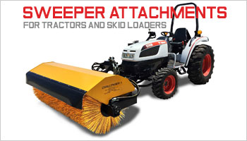 sweeper attachments, angle broom, bobcat sweeper attachment