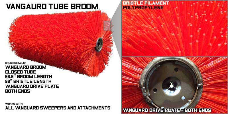 Tube brooms, center broom, replacement brooms, tube broom